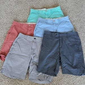 Men's lot of five pair of shorts